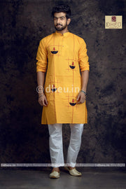 Diya-Handloom Cotton Applique kurta