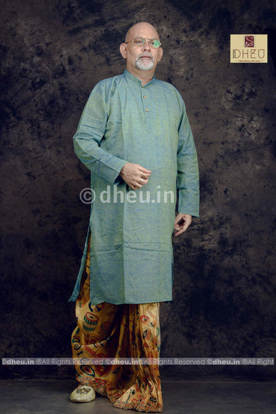 Mosh Green Cotton  Kurta for Men