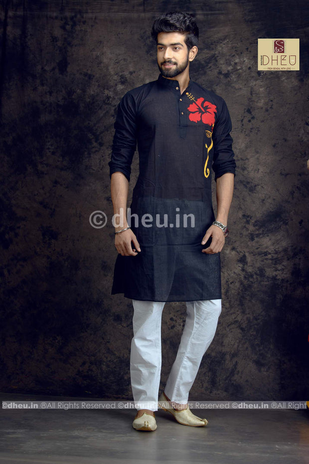 Joba-Handloom Cotton Applique kurta