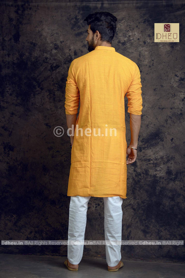 Mustard yellow Pure Cotton kurta -Solid Colour