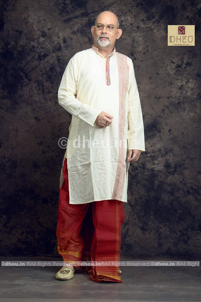 White Cotton Kurta for Men - Boutique Dheu