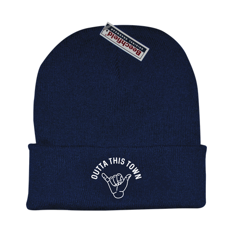 Outta This Town Shaka Beanie French Navy