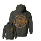 Outta This Town Native American Hoodie Olive Green