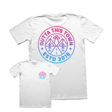 Outta This Town Cosmic Logo T-shirt White
