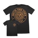 Outta This Town Sun Badge T-shirt Black