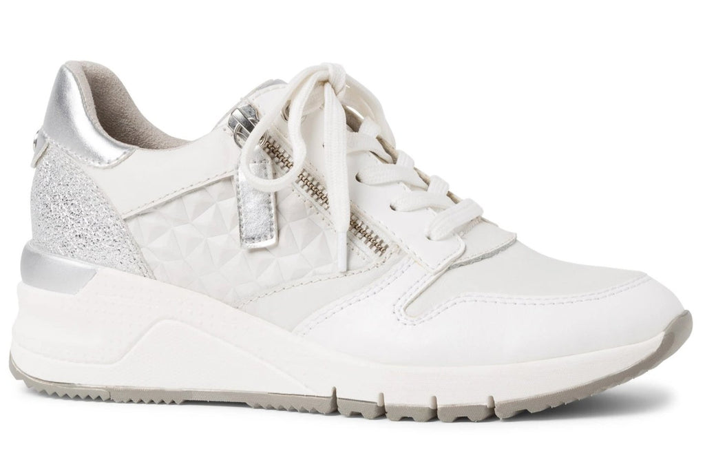 Tamaris - 23702 White Leather Runners