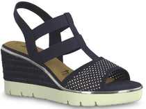 Tamaris - 28370 Navy Wedge Sandals