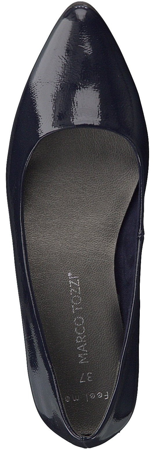 Marco Tozzi - 22206 Navy Patent Pomp Shoes