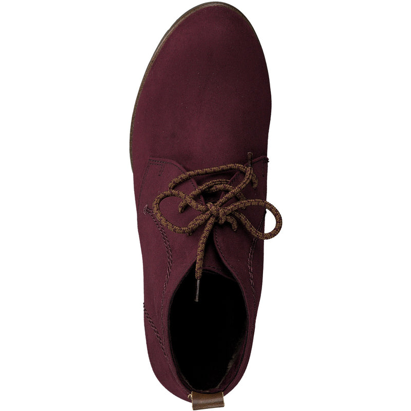 Marco Tozzi - 25107 Burgundy/Suede Ankle Boots