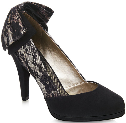 Ruby Shoo - Katie Black Lace Shoes