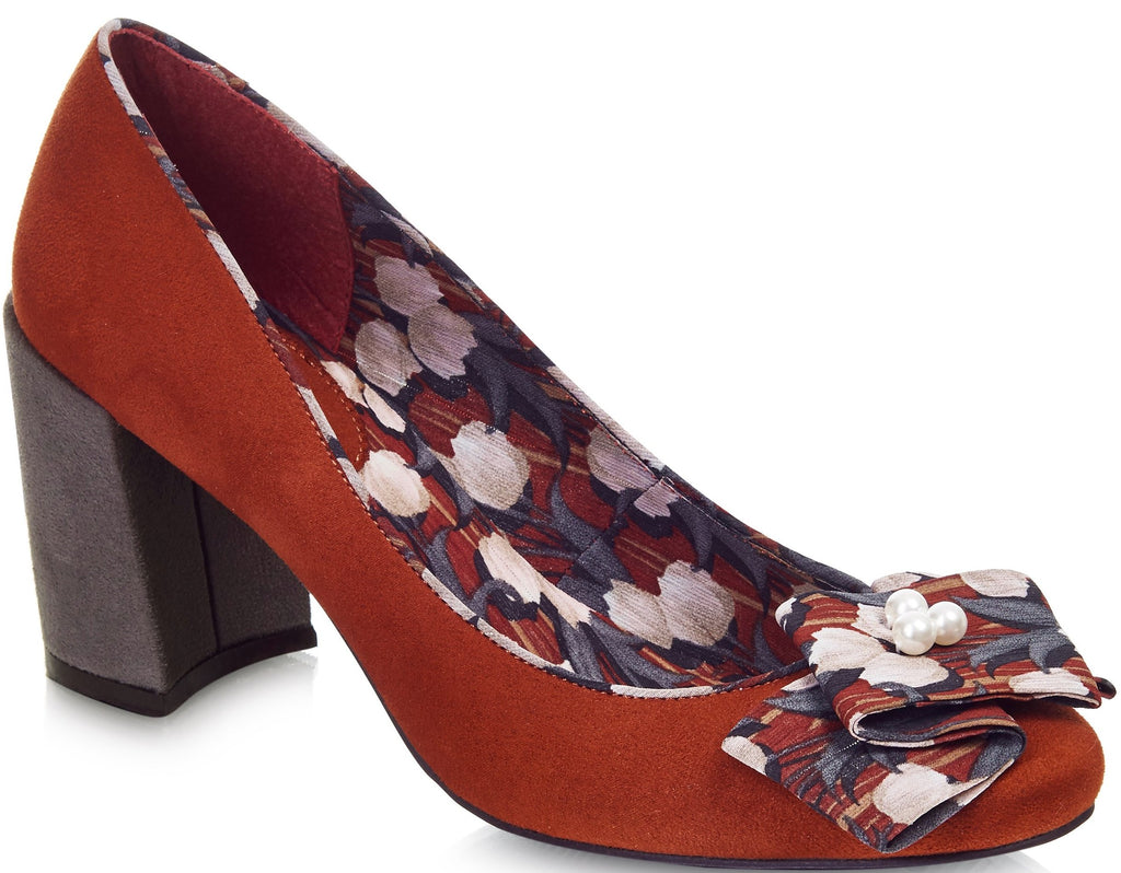 Ruby Shoo - Pandora Russet Red Shoes