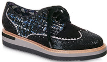 Ruby Shoo - Davina Black Tweed Shoes