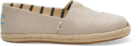 Toms - Classic Natural Pearlized Metallic Woven Canvas Shoes