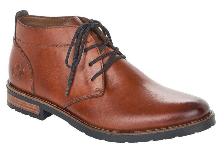 Rieker - 14610 Tan Ankle Boots (Navy Laces)