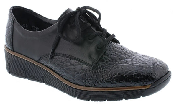 Rieker - 53710 Granite/Black Shoes