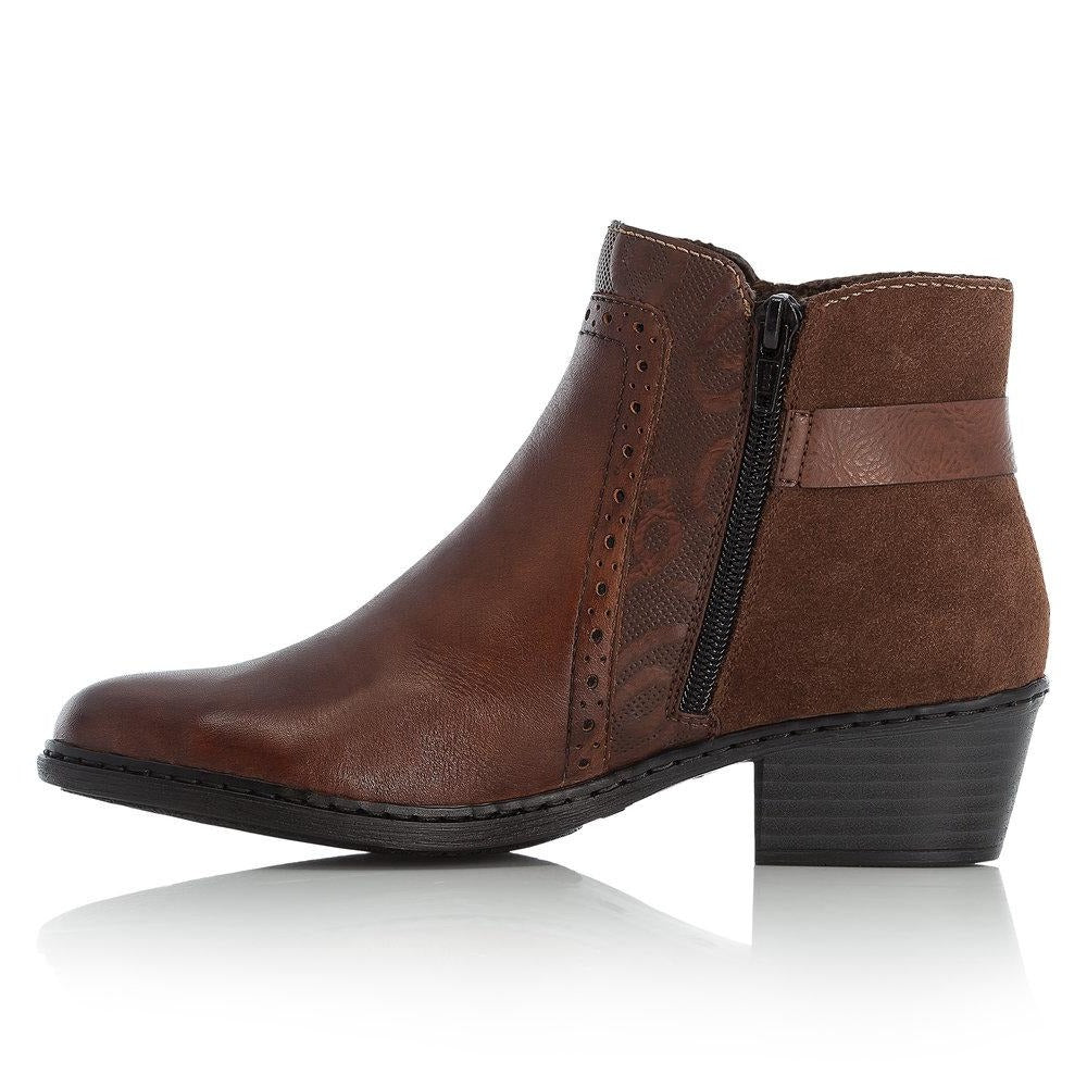 Rieker - 75585 Brown Ankle Boots