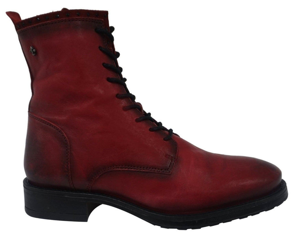 Bourbon Amy Huberman - Roxanne Antique Ruby Ankle Boots