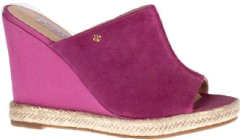 Bourbon Amy Huberman - Ever After Deep Violet Wedge Sandals