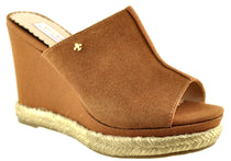 Bourbon Amy Huberman - Ever After Fudge/Tan Wedge Sandals