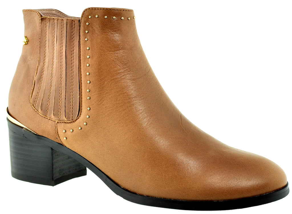 Bourbon Amy Huberman - Step Mum Light/Fudge Ankle Boots