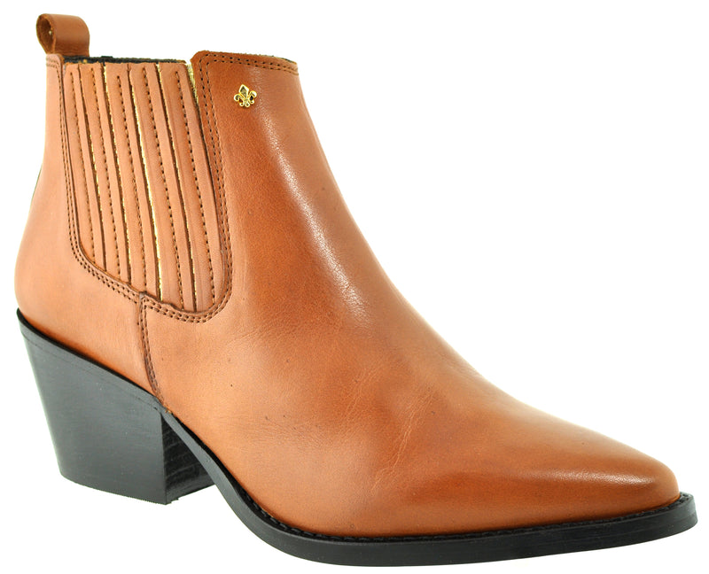 Bourbon Amy Huberman - You Again Camel Ankle Boots
