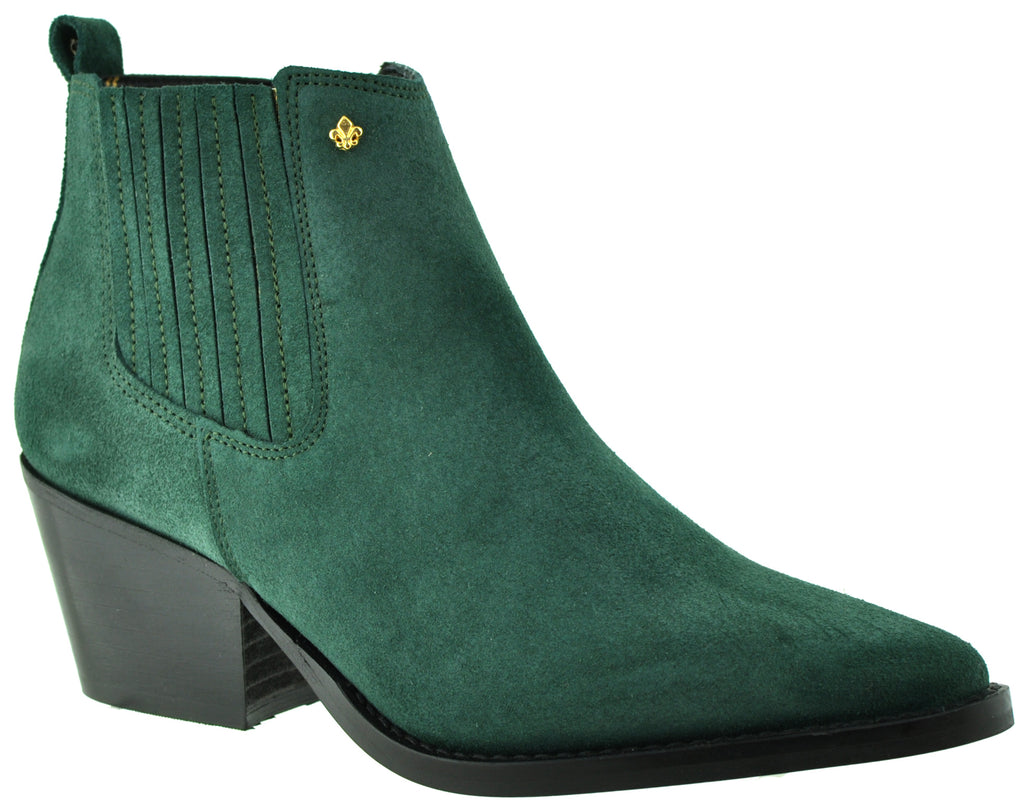 Bourbon Amy Huberman - You Again Green Ankle Boots
