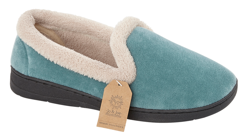 LJ&R - Cashmere Teal Slippers