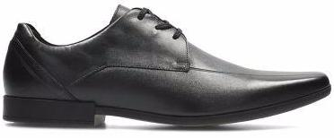 Clarks - Glement Over Black Leather Shoes