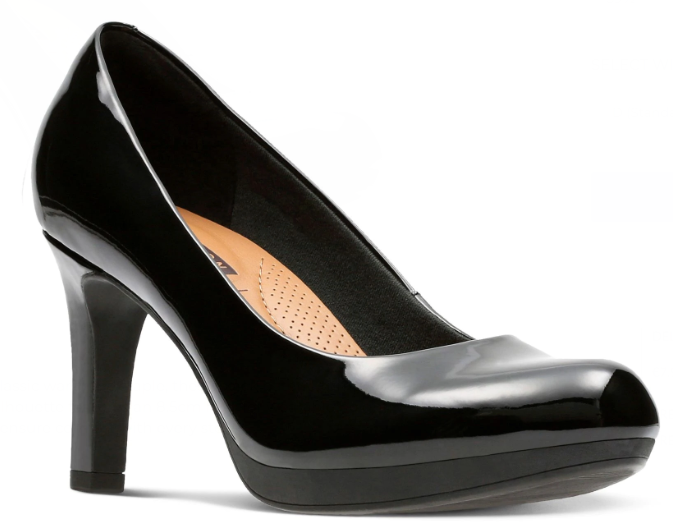 Clarks - Adriel Viola Black Patent Shoes