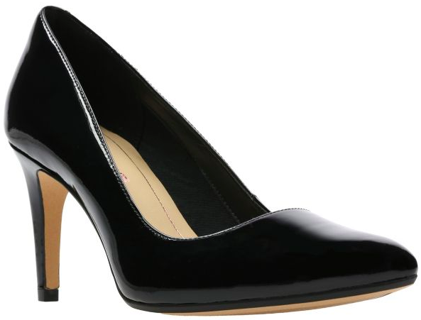 Clarks - Laina Rae Black Patent Shoes