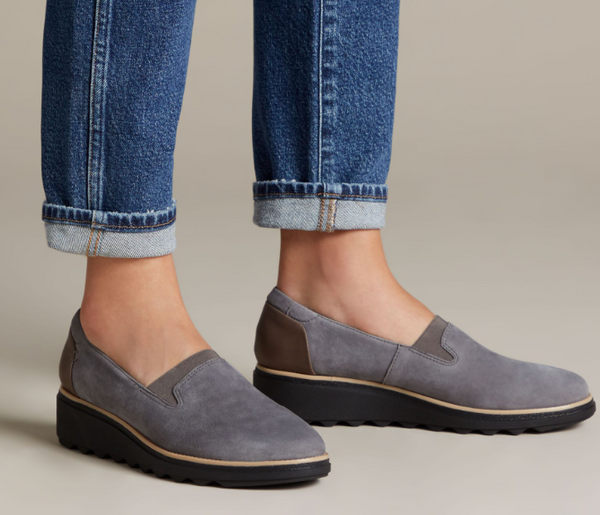 Clarks - Sharon Dolly Grey Suede Shoes
