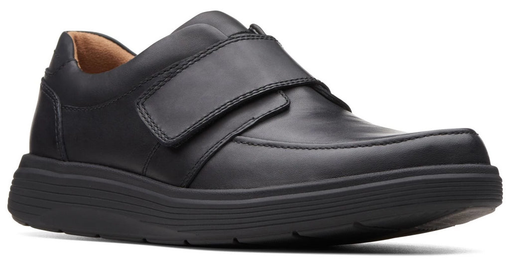 Clarks - Un Abode Strap Black Leather Shoes