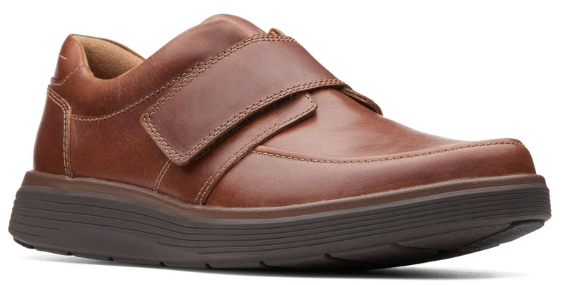 Clarks - Un Abode Strap Dark Tan Leather Shoes