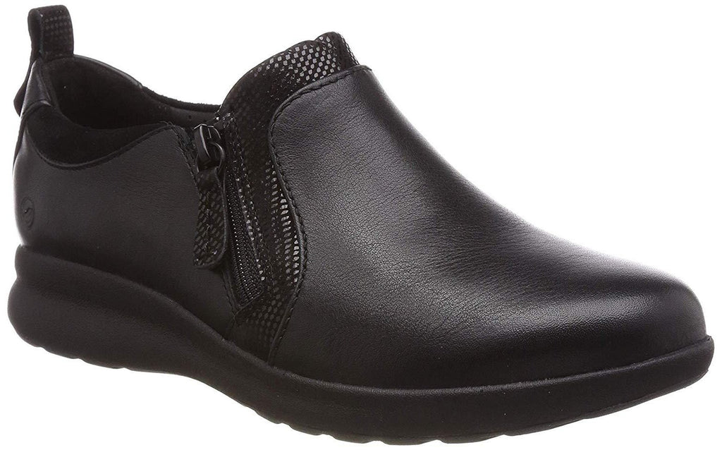 Clarks - Un Adorn Zip Black Combi Shoes