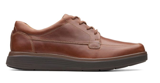 Clarks - Un Abode Ease Dark Tan Leather Shoes