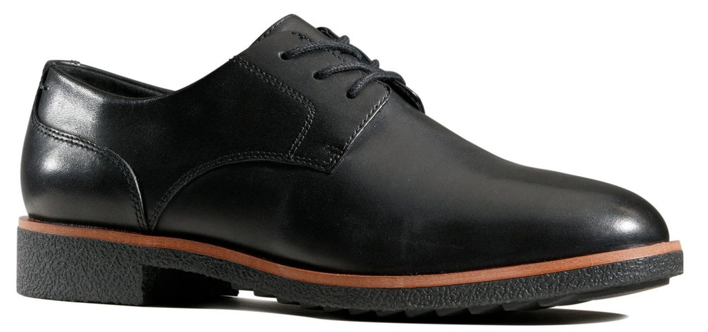 Clarks -  Griffin Lane Black Leather Shoes