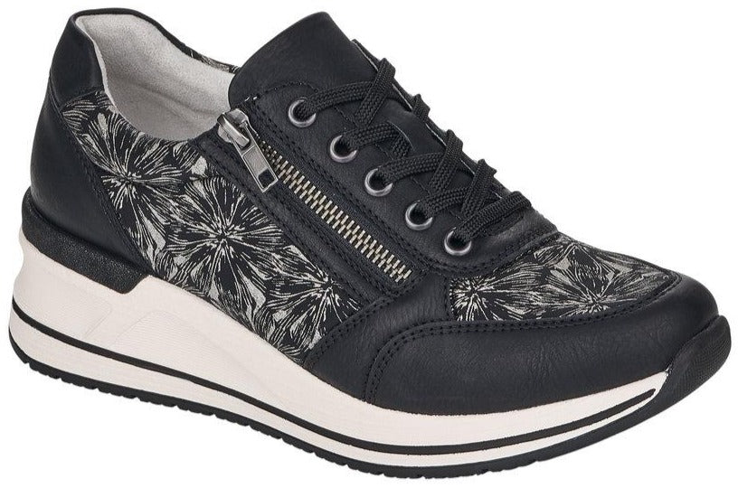 Remonte - D3203 Black Flower Runners