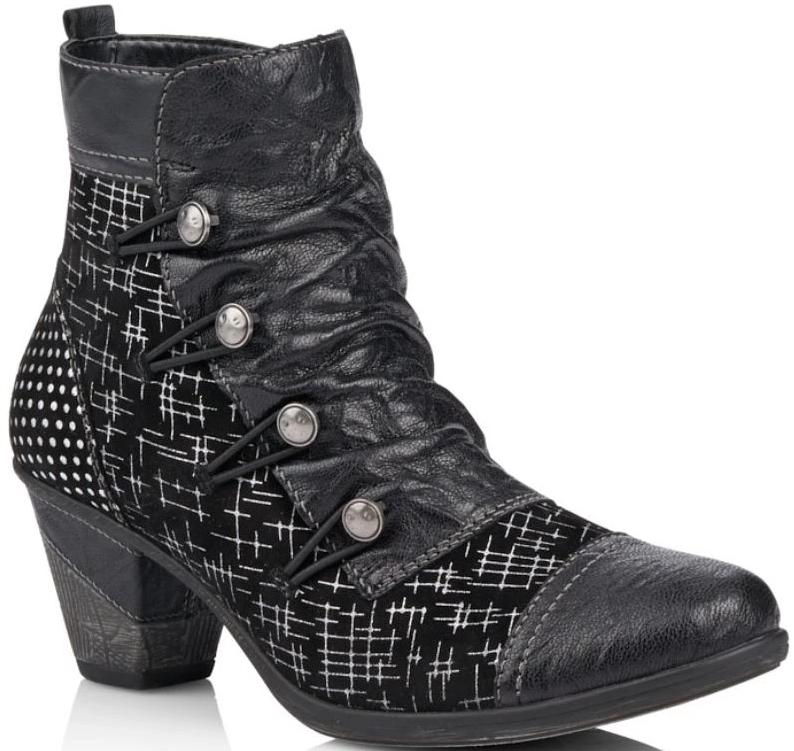 Remonte - D8792 Black/Multi Ankle Boots