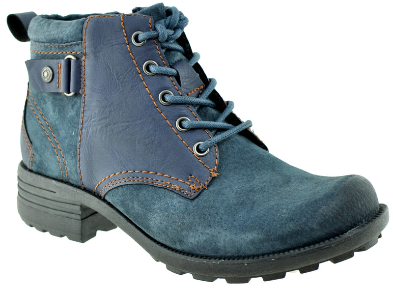 Earth Spirit - Paxton Navy Ankle Boots