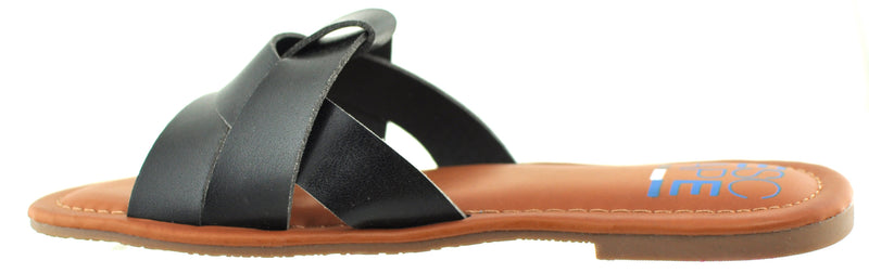 Escape - Pueblo Black Flat Sandals