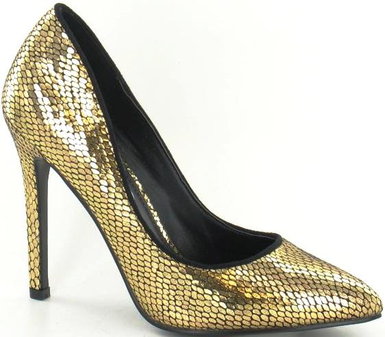 Kidderminster - F9590 Gold Court Shoes