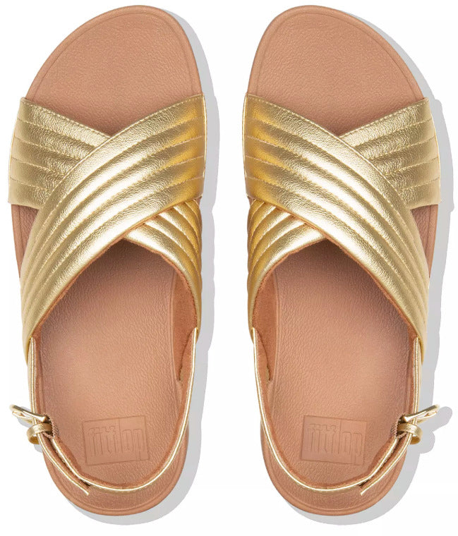 FitFlop - Lulu Padded Gold Sandals