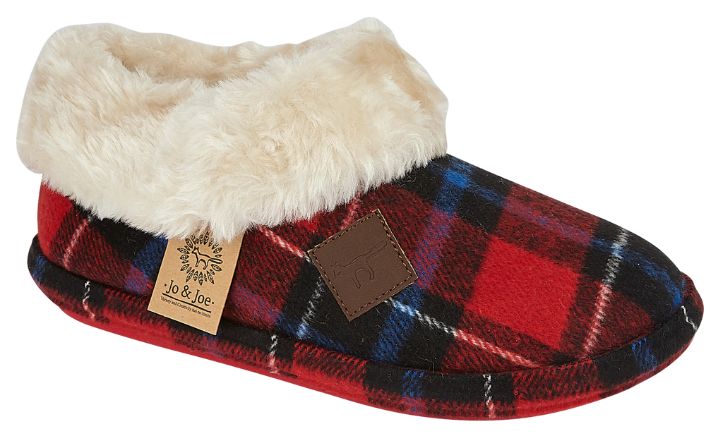 LJ&R - Glenroyal Red Blue Tartan Slippers