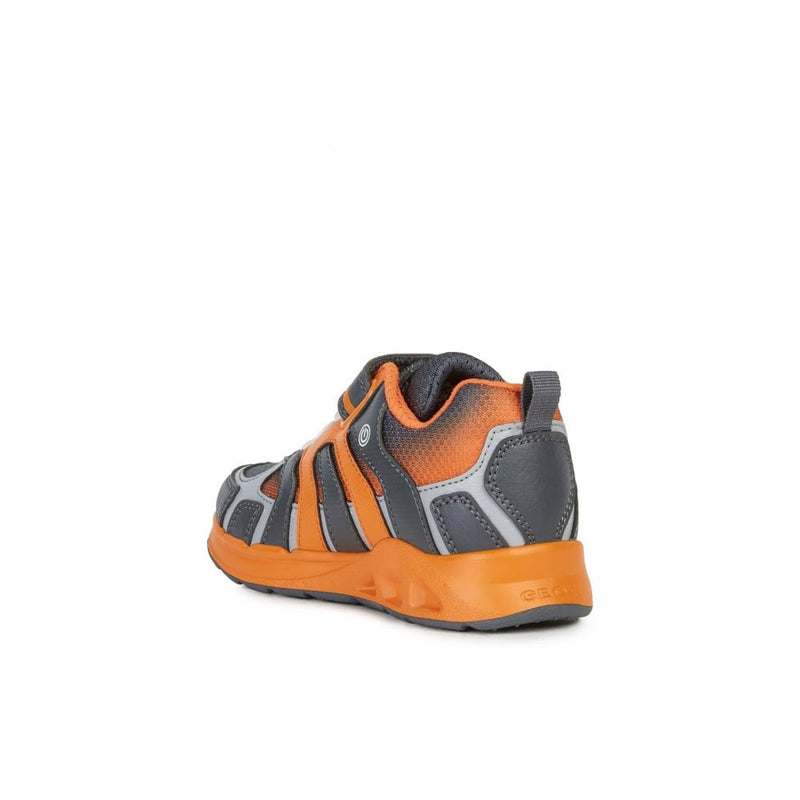 Geox - Dakin Grey/Orange Runners (J949FC)