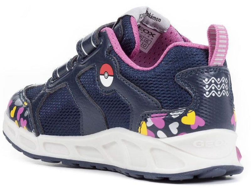 Geox - Shuttle Girl Navy/Fuschia Runners (J8206D)