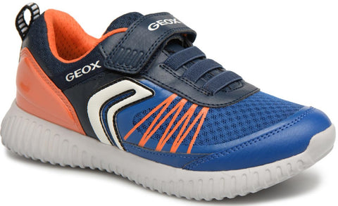Geox - Waviness Navy/Orange Runners (J826TC)