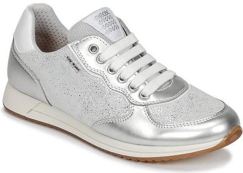 Geox - Jensea Girl Grey/Silver Runners (J826FD)