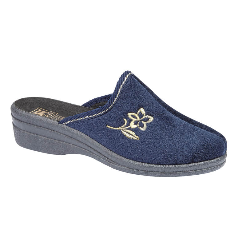 LJ&R - Helen Navy Slippers