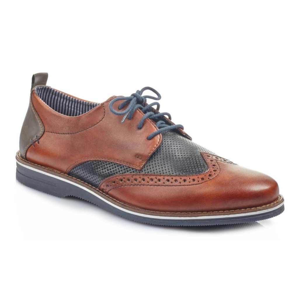 Rieker - 12532 Navy/Tan Shoes