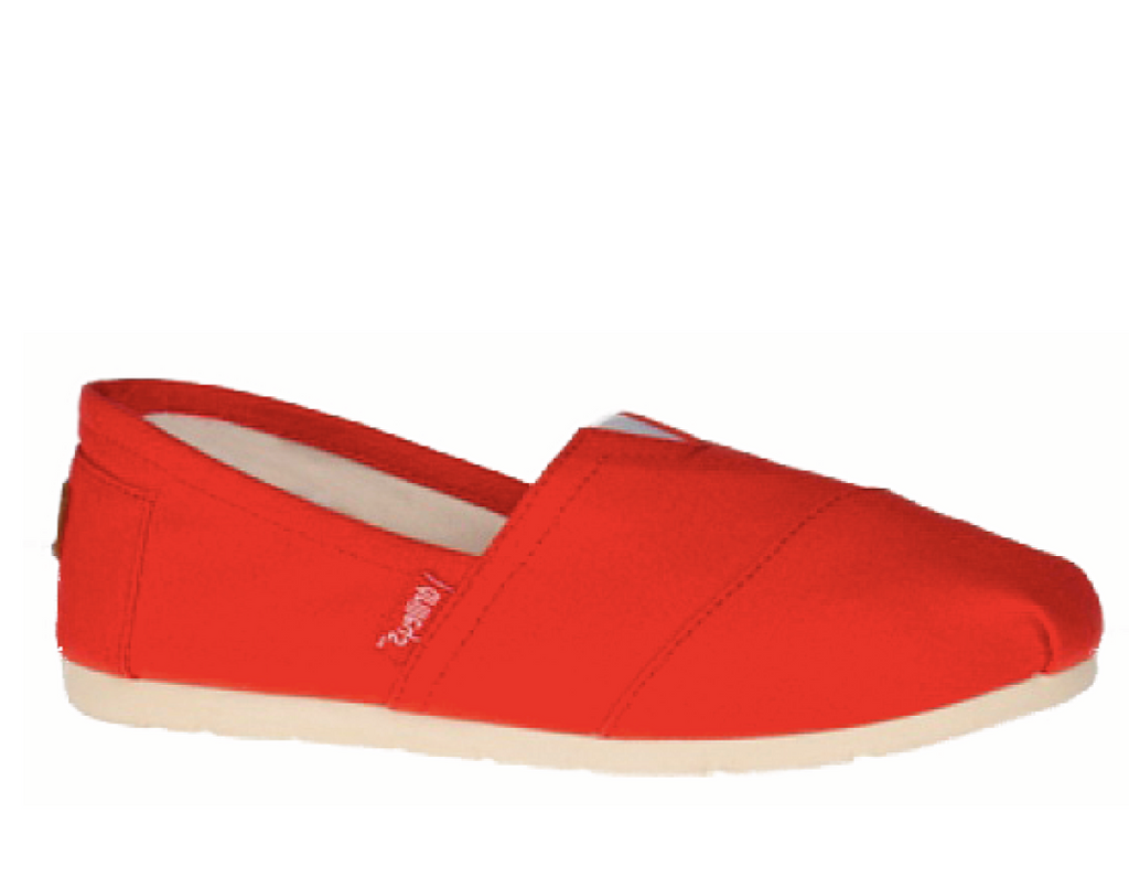 Zanni & Co - Drilley Red Canvas Shoes